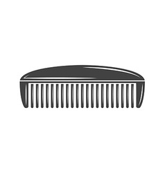 Simple comb barber Black icon logo element flat vector image