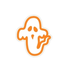 Sticker ghost color on a white background vector