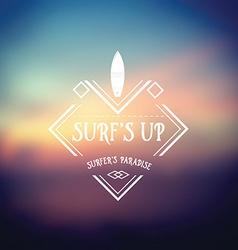Surf vintage retro poster Hawaii beach wave banner vector image vector image