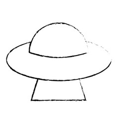 Ufo invasion futuristic image sketch vector