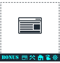Browser icon flat vector image vector image