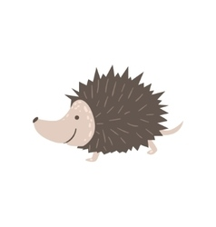 Smiling Hedgehog Running vector image vector image