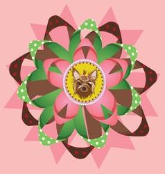 Beautiful yorkshire terrier award vector image vector image