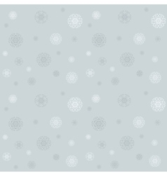 Celebratory pattern with snowflakes on the grey vector image vector image