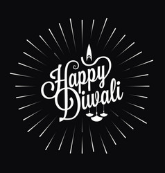 diwali festival logo star burst design background vector image vector image