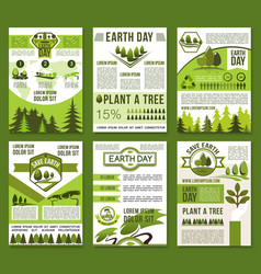 earth day and ecology conservation poster vector image vector image