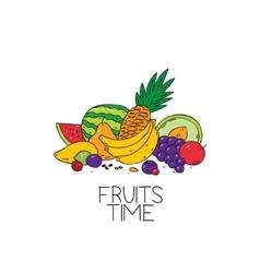 fruits time logo vector image
