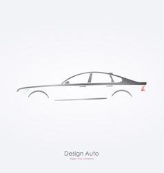 gray car silhouette side view of luxury sedan vector image