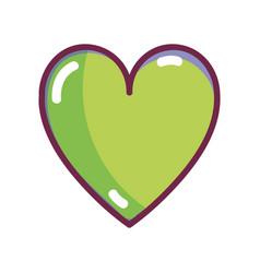 Nice organic heart healthy life vector