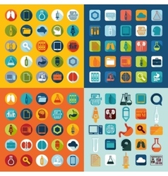 Set of medicine icons vector image vector image