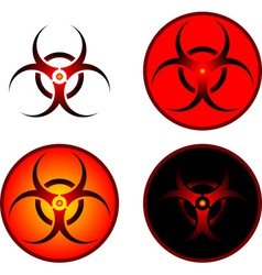 Signs of bio hazard vector