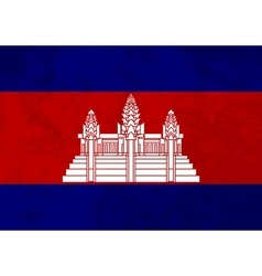 True proportions cambodia flag with texture vector