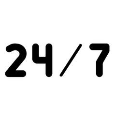 247 service the black color icon vector image
