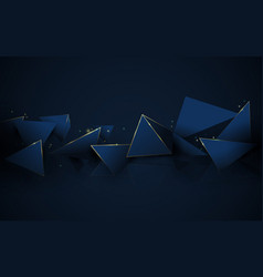 abstract 3d polygonal pattern luxury background vector image