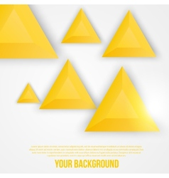 abstract triangles template Object web vector image
