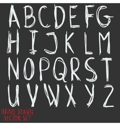 Alphabet letters Hand drawn by inc vector image
