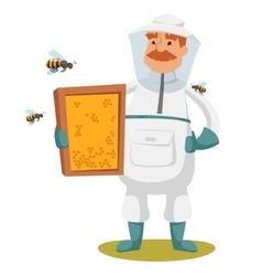 Apiary beekeeper vector