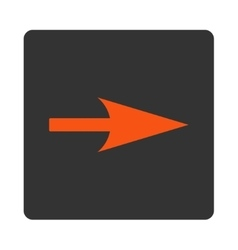 Arrow Axis X flat orange and gray colors rounded vector
