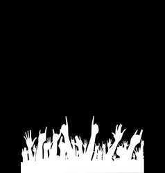 audience poster background vector image