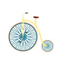 bicycle in flat design vector image