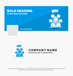 blue business logo template for group business vector image