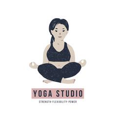 body positive yoga concept vector image