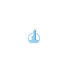 building cityscape tower logo vector image