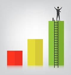 Business concept success vector