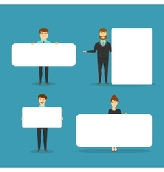 Business People With Blank White Boards vector