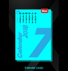 calendar ui july image vector image