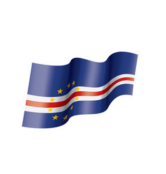 cape verde flag on a white vector image