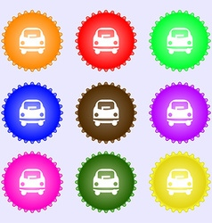 Car icon sign Big set of colorful diverse vector image