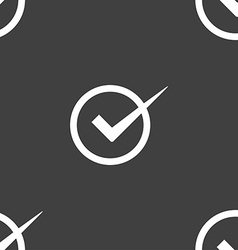 Check mark sign icon Checkbox button Seamless vector
