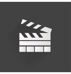 Clapperboard icon Film cinema movie symbol vector