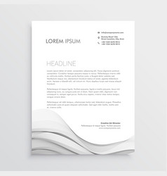 clean letterhead design template vector image