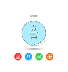 coffee icon takeaway glass sign vector image
