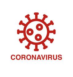 Corona virus icon vector