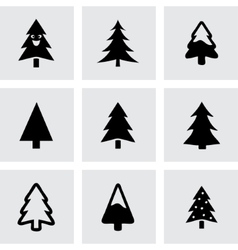 cristmas trees icons set vector image