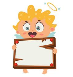 cupid or angel cartoon character vector image