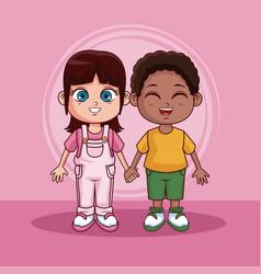 cute kids cartoons vector image