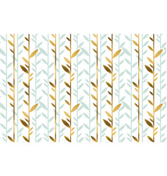 Elegant gold and green leaf seamless pattern vector