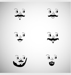 elements of movember background vector image