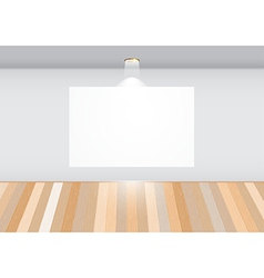 Empty room with white frame vector