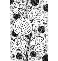 eucalyptus - flower black and white vector image