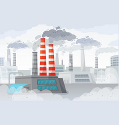 Factory air pollution polluted environment vector