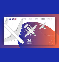 flight civil aviation training academy landing vector image