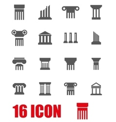 grey column icon set vector image