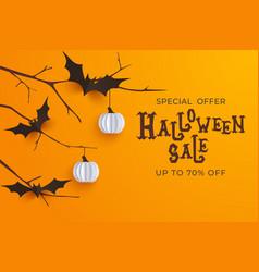 hand drawn halloween sale background horror vector image