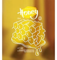 Honeycomb label vector image