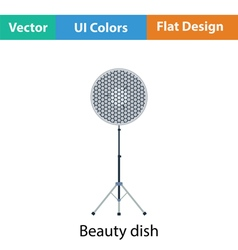 Icon of beauty dish flash vector image vector image
